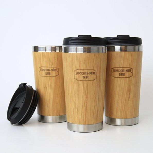 Werbeartikel, Kaffeebecher für Gemeinde