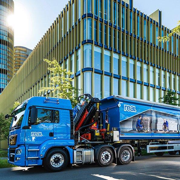 LKW-Beschtiftung, Fahrzeugbeschriftung REAL