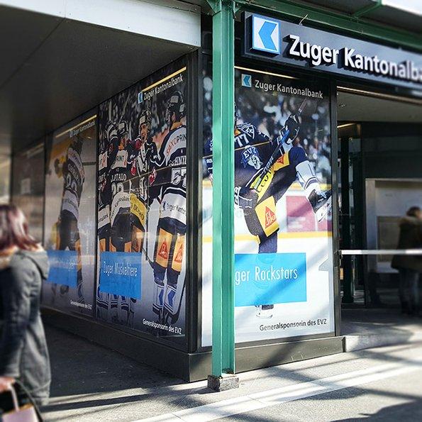 Fensterbeschriftung, Kampagne ZKB