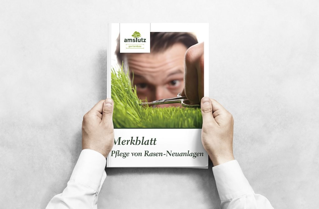 Logodesign Prospekt Grafik für Amstutz Gartenbau AG