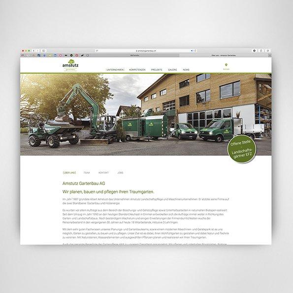 Webdesign für Amstutz Gartenbau AG