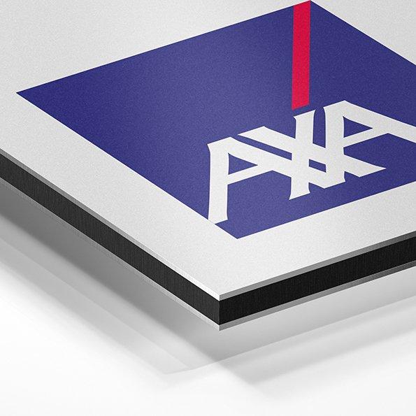 Grafik Messewand für Axa Bilderdruck
