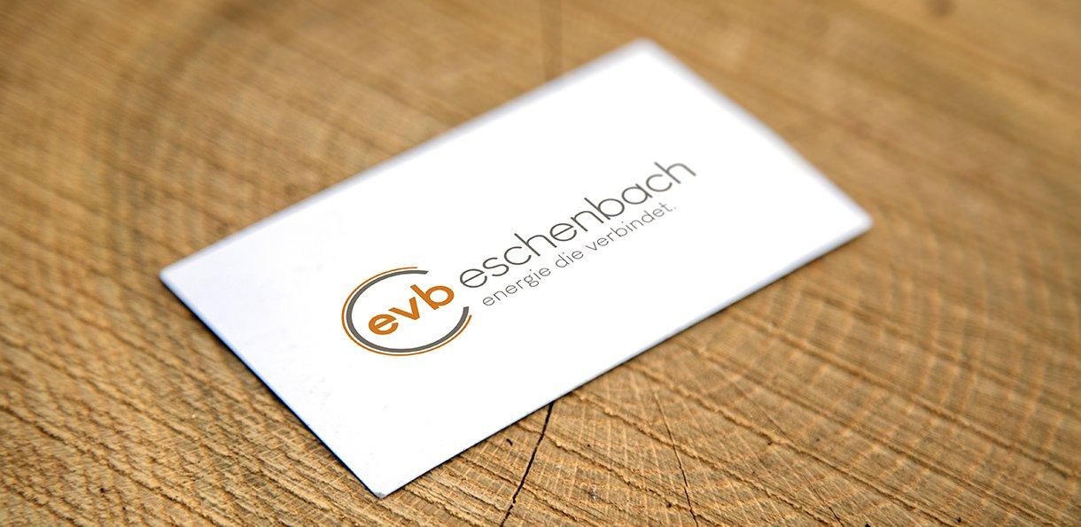 Logodesign, Grafik für EVB, Geschäftsdrucksachen, Visitenkarten