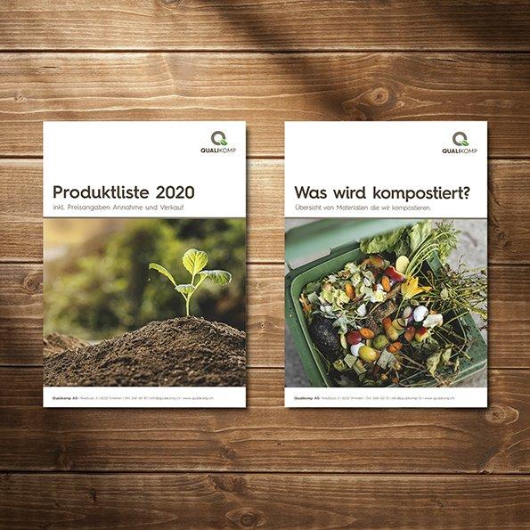 Logodesign und Geschäftsdrucksachen, Grafik für Qualikomp AG