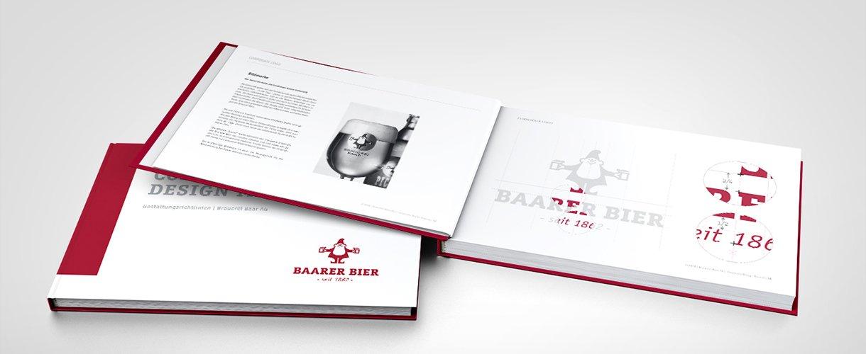 Grafik Corporate Design für Brauerei Baar AG