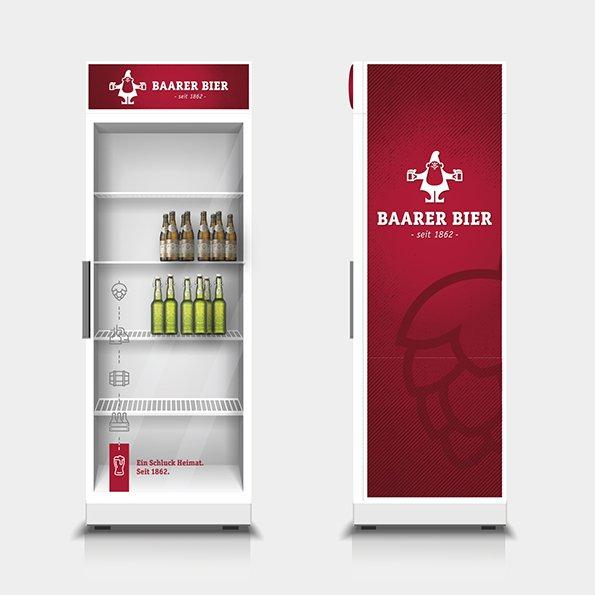 Grafik für Kühlschrankbeschriftung Baarer Bier
